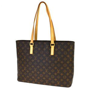 LOUIS VUITTON Luco Tote Shoulder Bag Monogram Leat